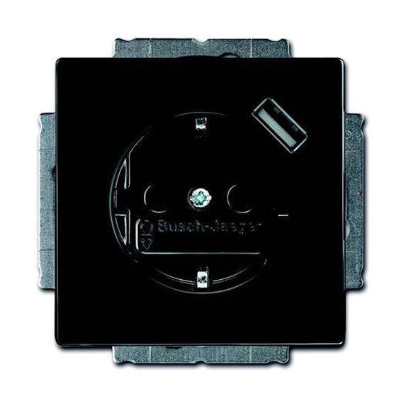 Розетка 1xUSB ABB, антрацит, 2011-0-6176