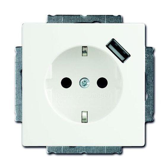 Розетка 1xUSB ABB, белый, 2011-0-6179