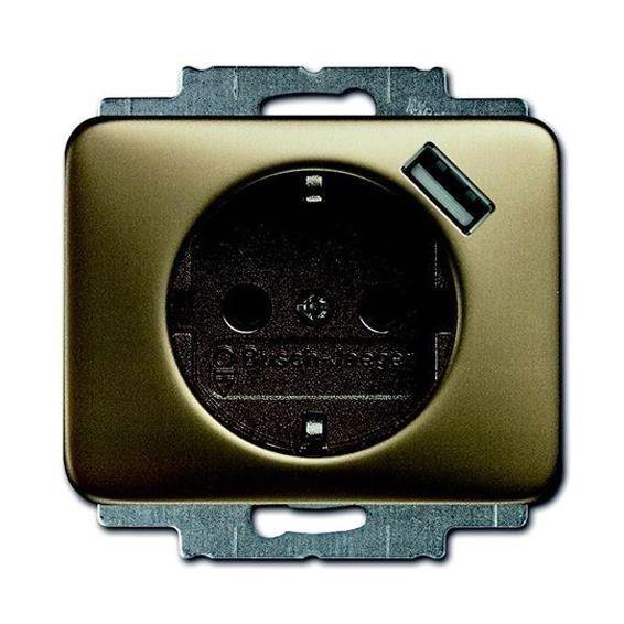 Розетка 1xUSB ABB, бронза, 2011-0-6186