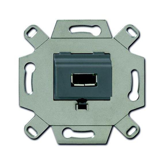 Розетка 1xUSB ABB, серый, 0230-0-0420