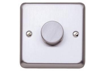 Стандартный диммер-переключатель MK Electric 75-500W, K1551BRC, матовый хром