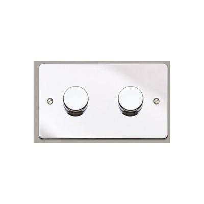 Двойной электронный диммер-переключатель MK Electric 2X 60-450W/VA, K1552PCRLV, полированный хром