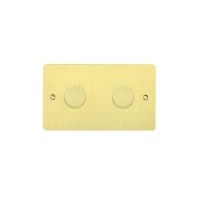 Двойной стандартный диммер-переключатель MK Electric 2X 60-450W, K1552SAG, атласное золото