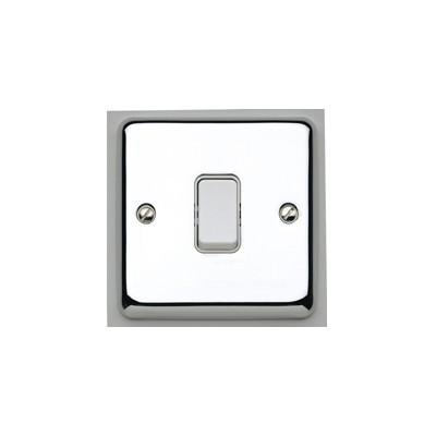 Переключатель одноклавишный MK Electric, 10А, K4671PCR, полированный хром