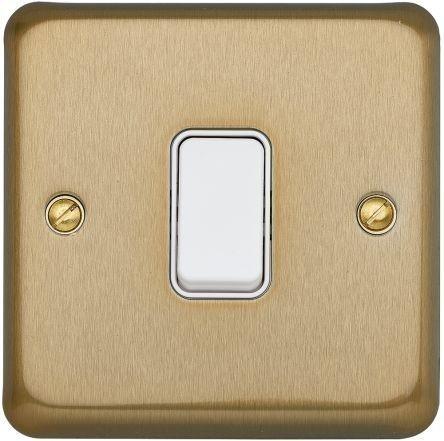 Переключатель одноклавишный MK Electric, 10А, K4671SAG, атласное золото