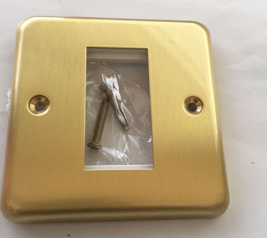 Лицевая панель для одного евромодуля MK Electric 25Х50 mm, K181SAG, атласное золото