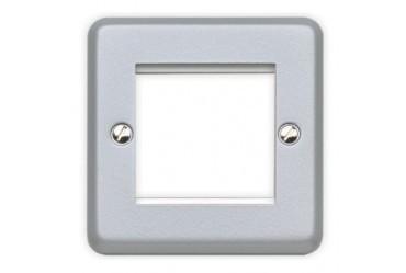 Лицевая панель для двух евромодулей MK Electric 50Х50 mm, K182BRC, матовый хром