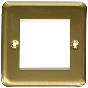 Лицевая панель для двух евромодулей MK Electric 50Х50 mm, K182SAG, атласное золото