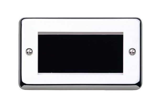 Лицевая панель для четырех евромодулей MK Electric 100Х50 mm, K184PCR, полированный хром