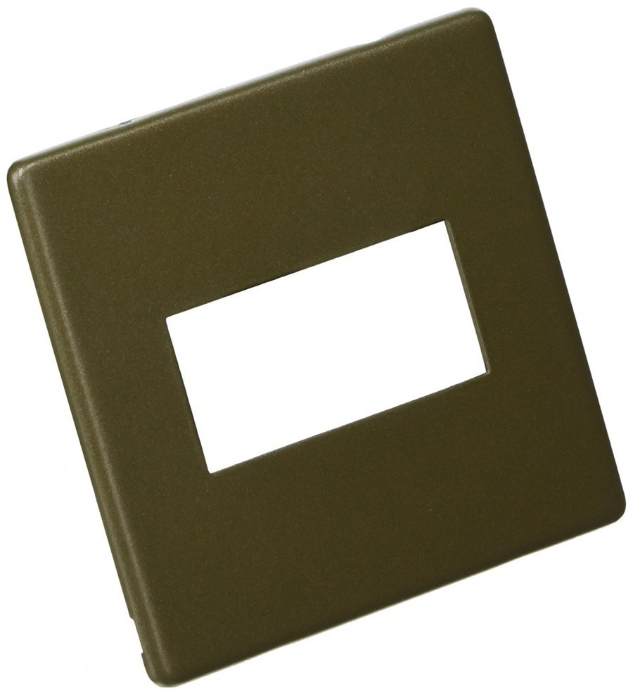 Лицевая панель для одного евромодуля MK Electric 25Х50 mm, K24181DBZ, бронза