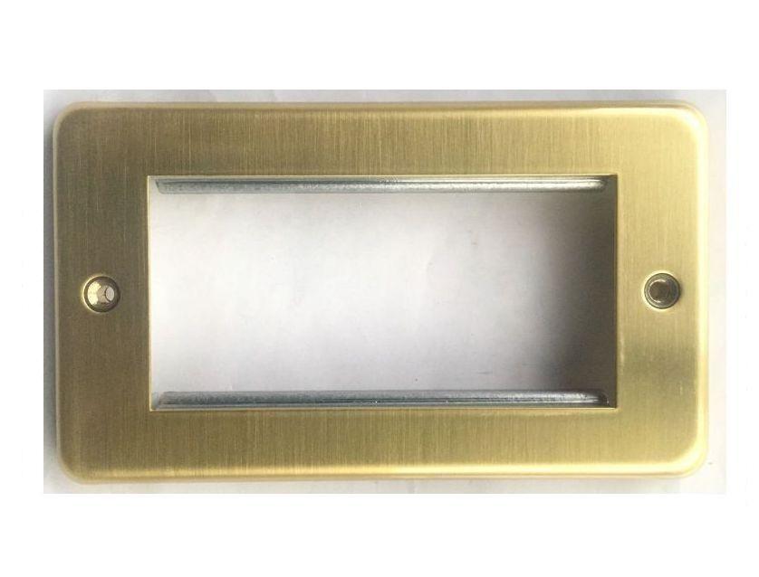 Лицевая панель для четырех евромодулей MK Electric 100Х50 mm, K184SAG, атласное золото