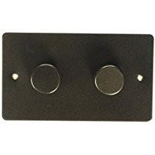 Двойной электронный диммер-переключатель MK Electric 2X 60-450W/60-375VA, K14302ABS, античная латунь