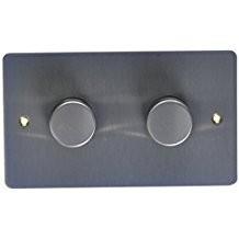Двойной электронный диммер-переключатель MK Electric 2X 60-450W/60-375VA, K14302BRC, матовый хром