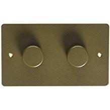 Двойной электронный диммер-переключатель MK Electric 2X 60-450W/60-375VA, K14302DBZ, бронза