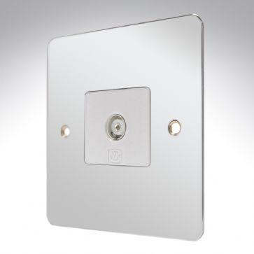 Розетка TV/FM (гнездо) неизолированная MK Electric, K14320DBZB, бронза