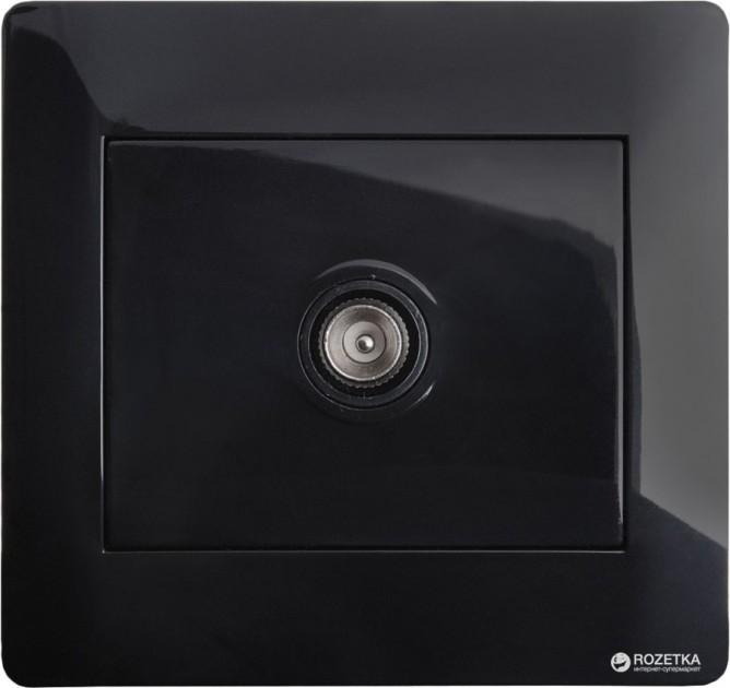 Розетка TV/FM (гнездо) изолированная, K14321LBKB, Черный глянцевый