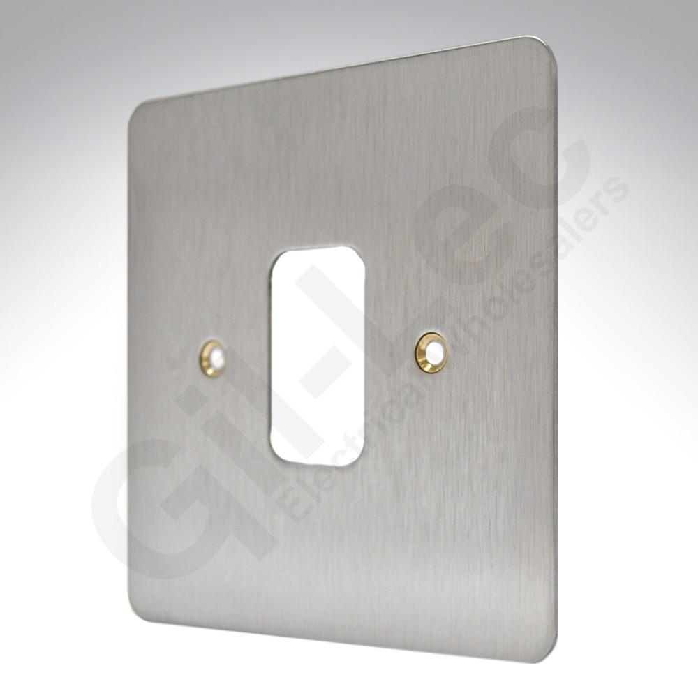 Лицевая панель для 1 модуля GRID, K14331BSS, Матовая нержавеющая сталь