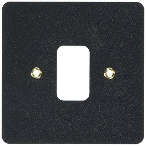 Лицевая панель для 1 модуля GRID, K14331LBK, Черный глянец