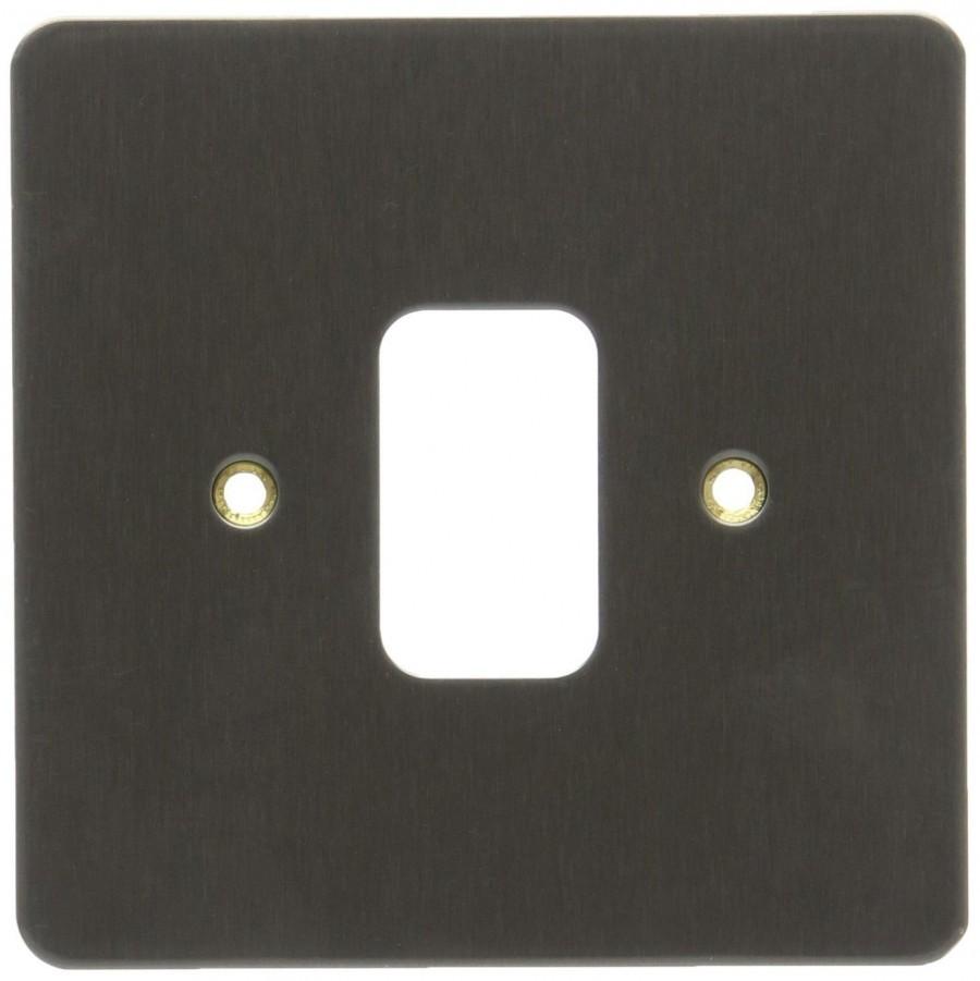 Лицевая панель для 1 модуля GRID, K14331LBS, Лакированная матовая сталь