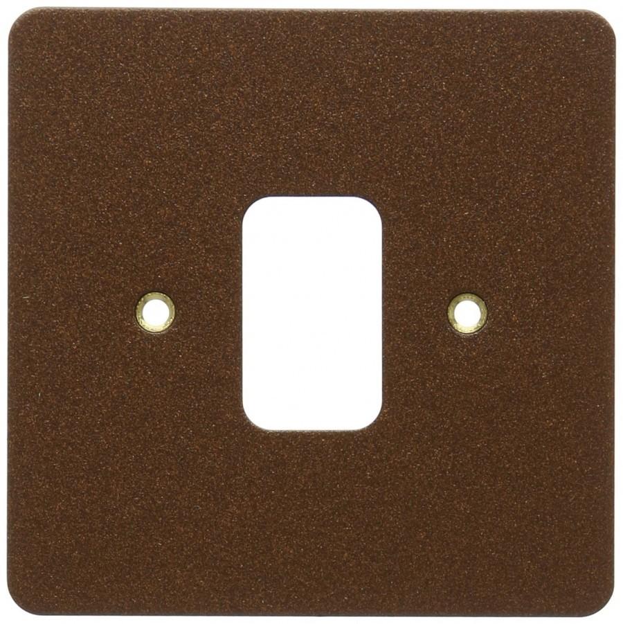Лицевая панель для 1 модуля GRID, K14331TCO, Текстурированная медь