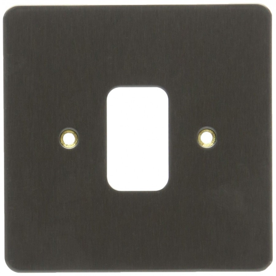 Лицевая панель для 1 модуля GRID, K14331TIR, Текстурированное железо