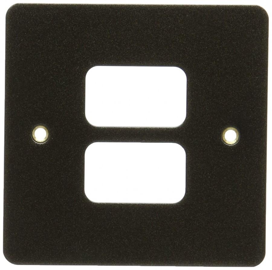 Лицевая панель для 2 модулей GRID, K14332ABS, Античная латунь