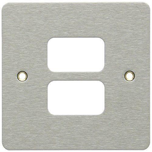 Лицевая панель для 2 модулей GRID, K14332LBS, Лакированная матовая сталь