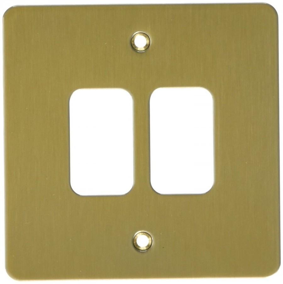 Лицевая панель для 2 модулей GRID, K14332SAG, Атласное золото