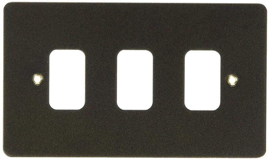 Лицевая панель для 3 модулей GRID, K14333ABS, Античная латунь
