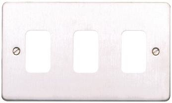Лицевая панель для 3 модулей GRID, K14333BRC, Матовый хром