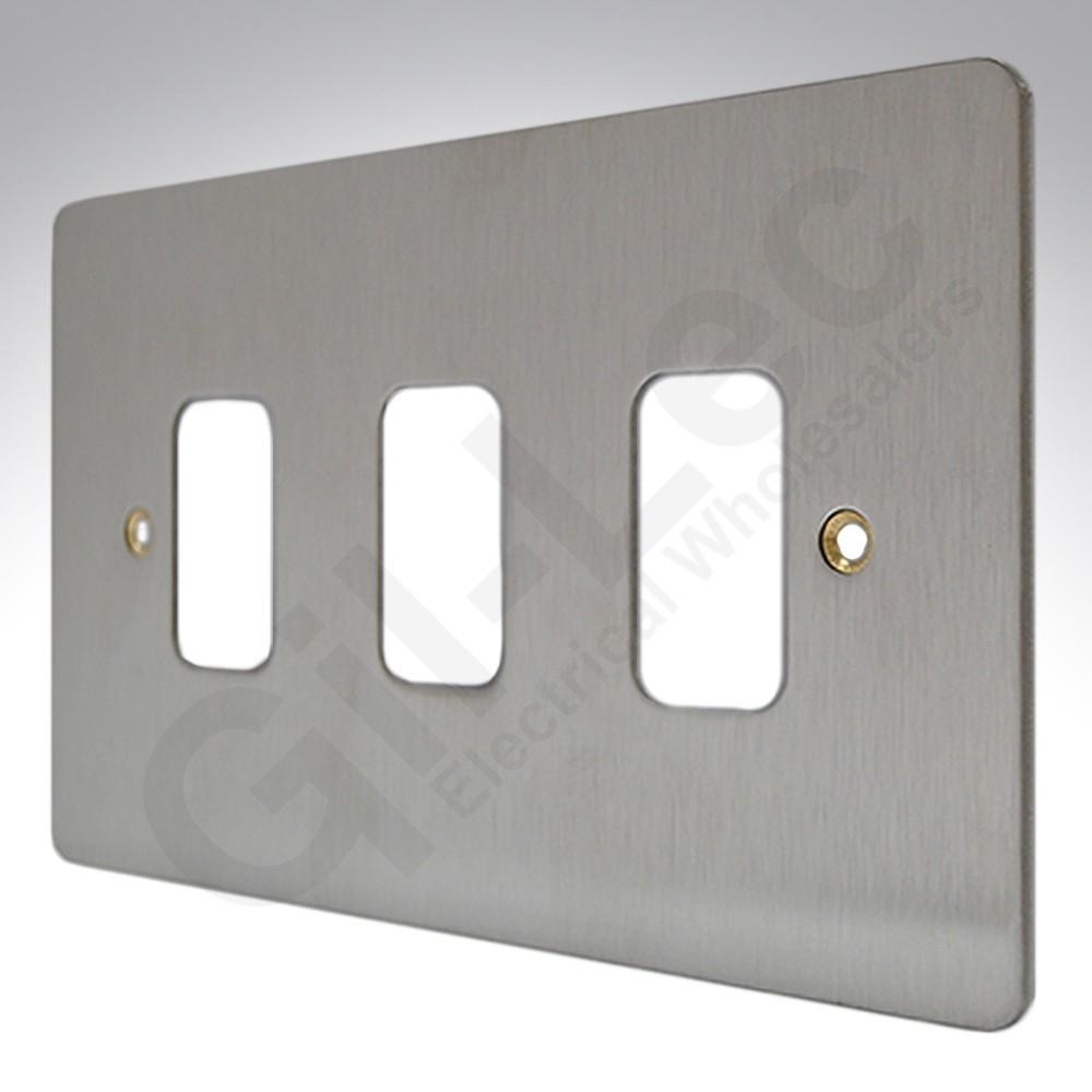 Лицевая панель для 3 модулей GRID, K14333BSS, Матовая нержавеющая сталь