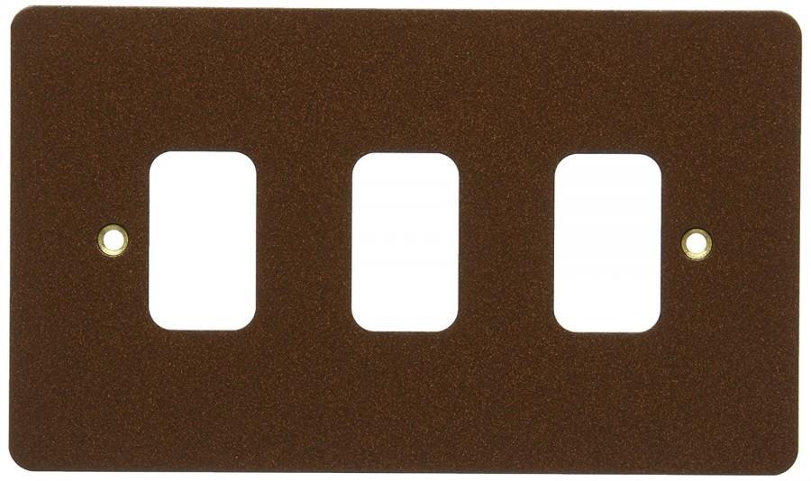 Лицевая панель для 3 модулей GRID, K14333TCO, Текстурированная медь