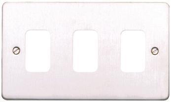 Лицевая панель для 3 модулей GRID, K14333TIR, Текстурированное железо