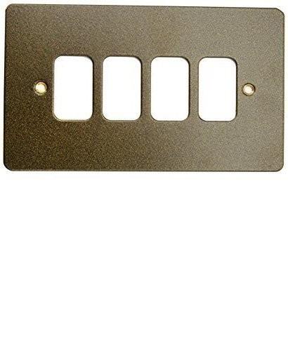 Лицевая панель для 4 модулей GRID, K14334ABS, Античная латунь