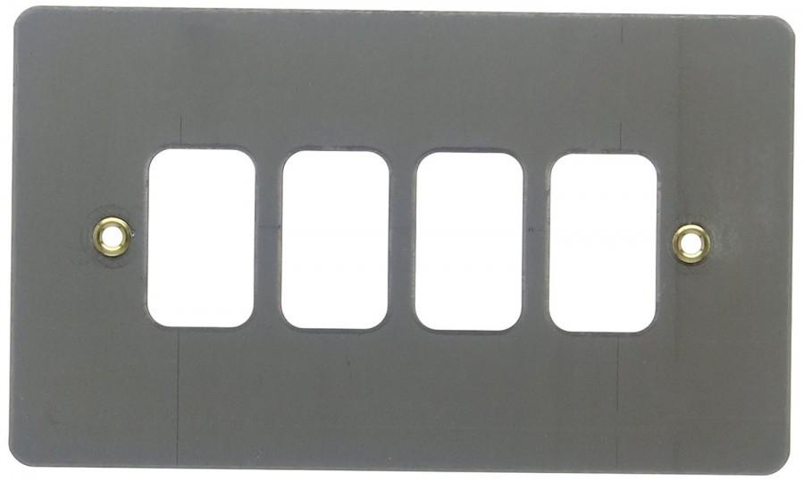 Лицевая панель для 4 модулей GRID, K14334BRC, Матовый хром