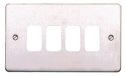 Лицевая панель для 4 модулей GRID, K14334BSS, Матовая нержавеющая сталь