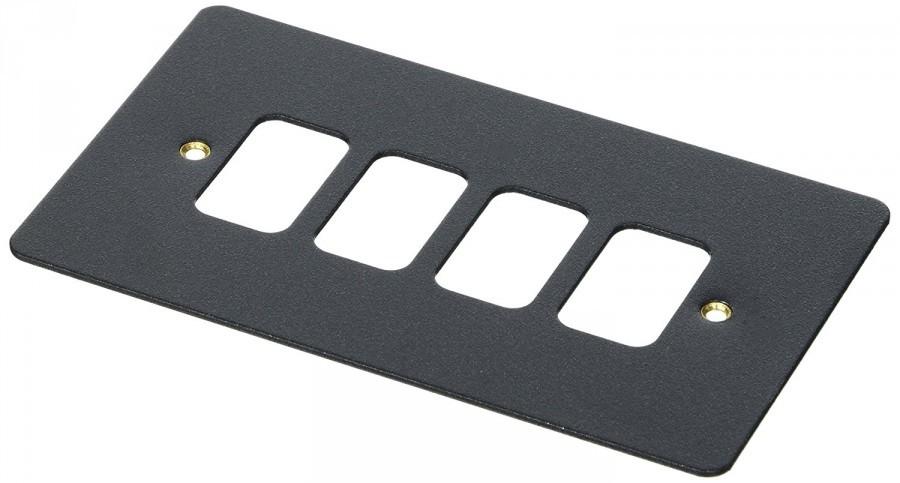 Лицевая панель для 4 модулей GRID, K14334LBK, Черный глянец