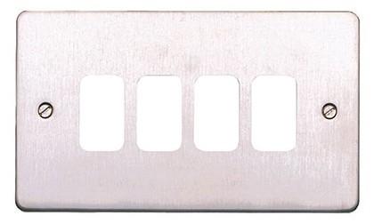 Лицевая панель для 4 модулей GRID, K14334LBS, Лакированная матовая сталь