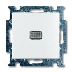 Выключатель 1-клавишный кнопочный ABB BASIC55, скрытый монтаж, альпийский белый, 1413-0-1081