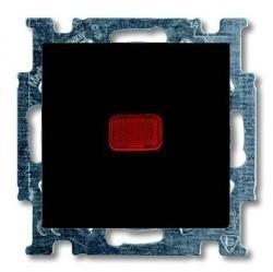 Выключатель 1-клавишный кнопочный ABB BASIC55, скрытый монтаж, château-black, 1413-0-1096