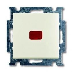 Выключатель 1-клавишный кнопочный ABB BASIC55, скрытый монтаж, chalet-white, 1413-0-1100