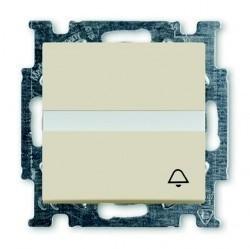 Выключатель 1-клавишный кнопочный ABB BASIC55, скрытый монтаж, слоновая кость, 1413-0-1087