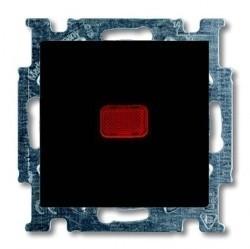 Выключатель 1-клавишный кнопочный ABB BASIC55, скрытый монтаж, château-black, 1413-0-1097