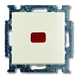 Выключатель 1-клавишный кнопочный ABB BASIC55, скрытый монтаж, chalet-white, 1413-0-1101