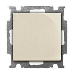 Выключатель 1-клавишный кнопочный ABB BASIC55, скрытый монтаж, слоновая кость, 1413-0-1083
