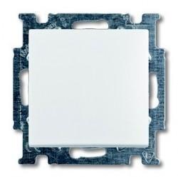 Выключатель 1-клавишный кнопочный ABB BASIC55, скрытый монтаж, альпийский белый, 1413-0-1080