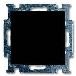 Выключатель 1-клавишный кнопочный ABB BASIC55, скрытый монтаж, château-black, 1413-0-1095
