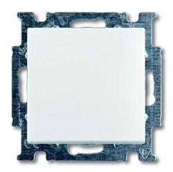 Выключатель 1-клавишный кнопочный ABB BASIC55, скрытый монтаж, chalet-white, 1413-0-1099