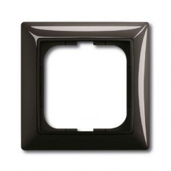 Рамка 1 пост ABB BASIC55, château-black, 1725-0-1506