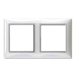 Рамка 2 поста ABB BASIC55, альпийский белый, 1725-0-1480